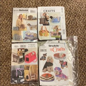 ✂️Lot of 4 sewing patterns pet clothes + carriers